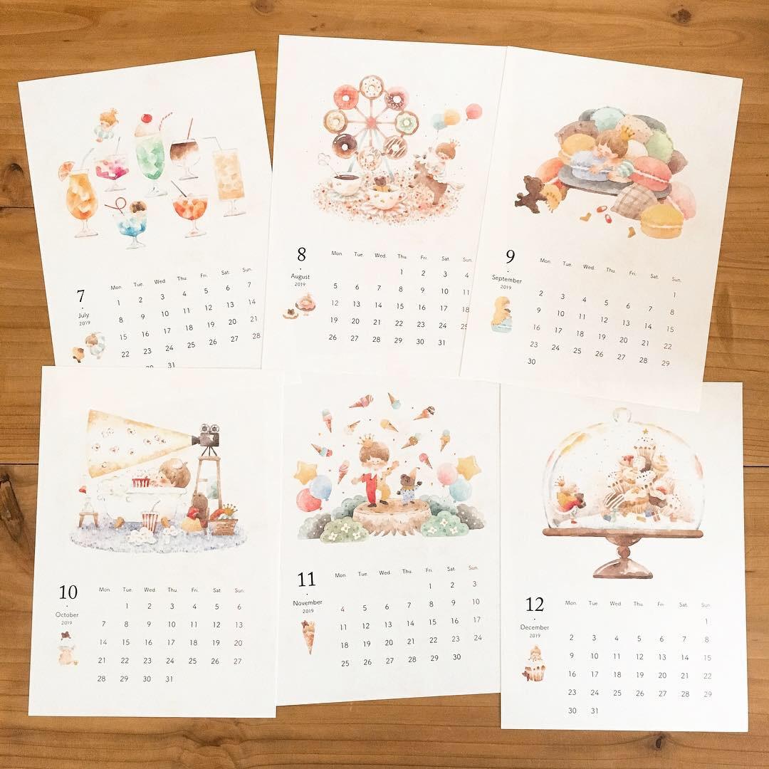 1 2 - 2019年オリジナルカレンダー